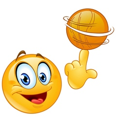 Spinning ball emoticon vector