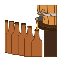 Beer bottles filling up icon vector