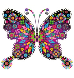 Vivid colorful butterfly vector