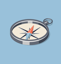 Simple isometric compass vector