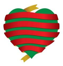 Srce bannerFinal sa srcem vector image