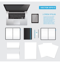Corporate identity mock up vector