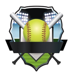 Softball champs badge emblem vector