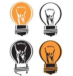 Cool light bulb vector