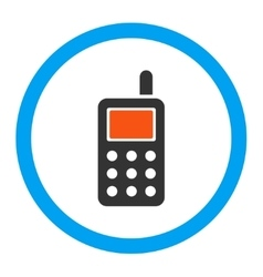 Cell phone rounded icon vector