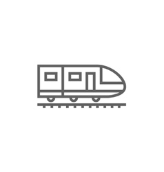 Modern high speed train line icon vector image