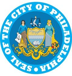 Philadelphia city seal vector image