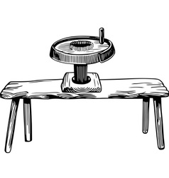 Vintage hand mill vector image