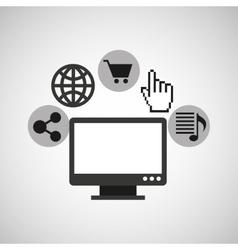 Laptop web icon vector