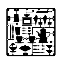 A set of restaurant vector image vector image