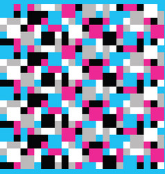 Abstract trendy colorful mosaic pattern of vector
