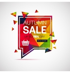 Autumn sale banner template for shop online store vector image vector image
