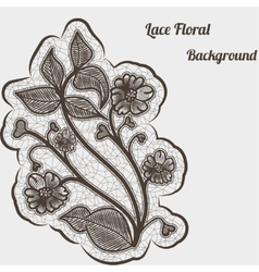 Background with black lace flower For design vector image
