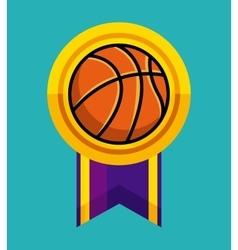 Basketball medal icon vector
