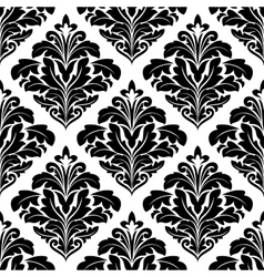 Bold floral arabesque seamless pattern vector