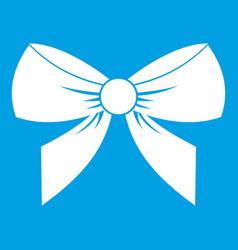 Bow icon white vector