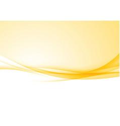 Bright speed abstract orange swoosh border vector