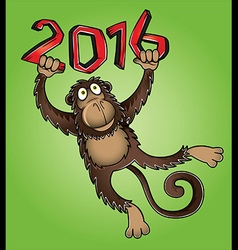 Chinese year of the monkey 2016 design vector image vector image