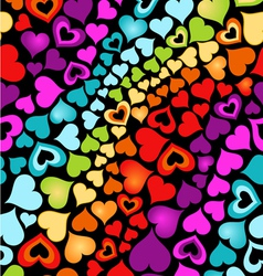 Cute hearts vector