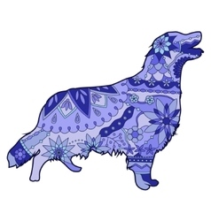 Dog blue vector image vector image