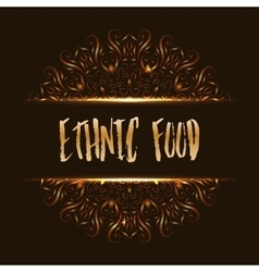 Ethnic food logo mandala design vector