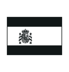 Flag of Spain with Emblem monochrome on white vector image