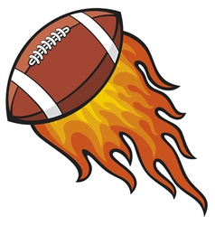 Football in Fire vector image