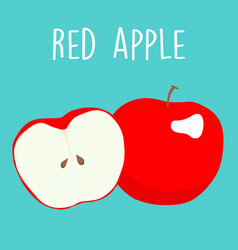 Fresh red apples graphic vector