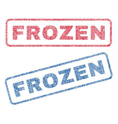 Frozen textile stamps vector