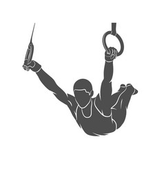 gymnastics rings sport vector image
