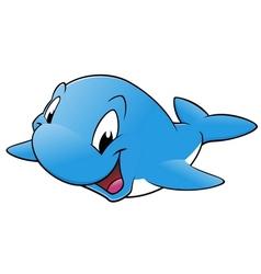 Happy whale vector