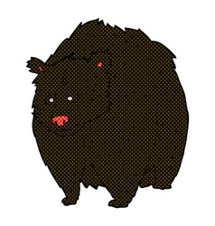 Huge black bear comic cartoon vector