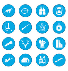 Hunting black icon blue vector