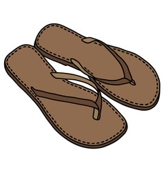 Leather sandals vector image