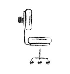 Monochrome blurred silhouette of office chair side vector