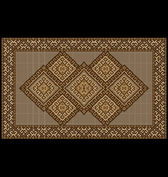 Motley vintage luxurious ethnic brown rug vector