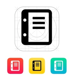 Notepad icon vector