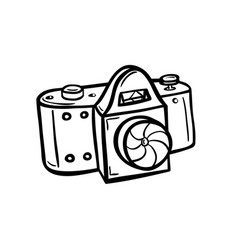 Outline of a camera vector