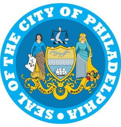 Philadelphia city seal vector image vector image