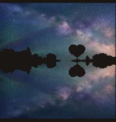 romantic landscape vector image