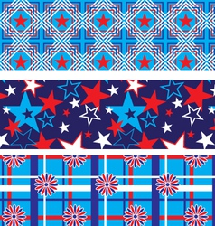 Seamless Patriotic Backgrounds vector image
