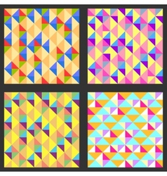 Set of four geometric pattern Texture with vector image vector image