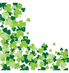 shamrock leaves background vector image vector image