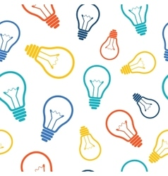 Simple colorful light bulb seamless pattern vector image vector image