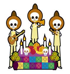 Skull musicians vector