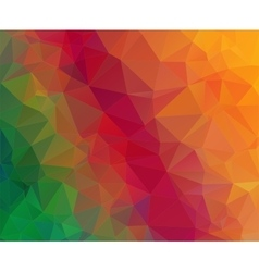 Triangle geometric colorful background vector image vector image