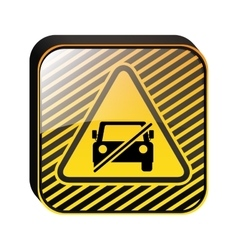 Triangle shape no parking traffic sign vector
