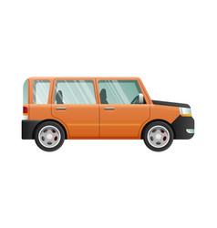 Orange jeep with clear glasses speed vehicle vector