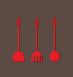 Set of utensils flat design vector