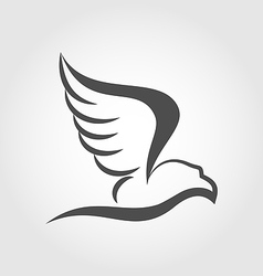 Flying eagle in the form of the stylized tattoo vector